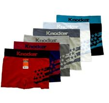 6pk Mens Seamless MS045 Boxer Briefs Short Microfiber Underwear Knocker #45