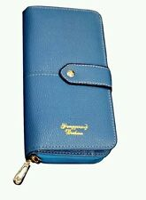 Laddies Wallet PU Leather with many Compartment (Blue)