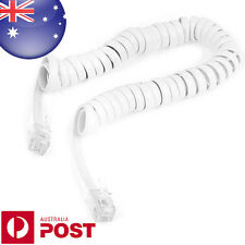 6FT 4P4C Coiled Telephone Handset Cable Curly Lead Cord Wire Coil Cable - 0440
