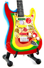 Miniature Guitar GEORGE HARRISON with free stand. THE BEATLES bebopalula Rocky