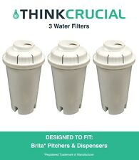 3 Brita Replacement Water Filters Fit Pitchers & Dispensers