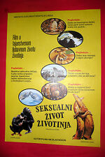 BIRDS DO IT,BEES DO IT 1974 NICOLAS NOXON ANIMALS SEX LIFE EXYU MOVIE POSTER