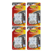 3M Command Clear Large Cord Clips w/Clear Strips, Pack of 8 (17303CLR)