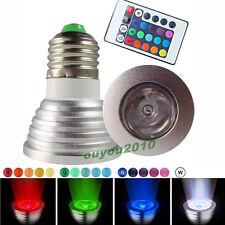 Lampadina Faretto Led E27 3W 220V 3W RGB 16 Multicolore con Telecomando 85V~240V