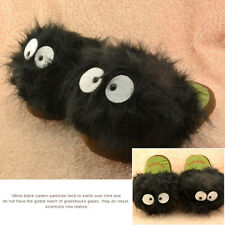 "My Neighbour Black Totoro Dust Bunny 11"" Adult Plush Slipper Free Size"