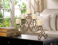 "Large Candelabra Iron Scrollwork Candleholder Wedding Centerpiece  24""x14"""