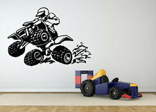 Wall Decor Art Vinyl Sticker Mural Decal Quad 4 Wheeler Atv Dirt Poster SA670
