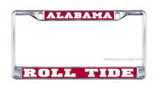 "UNIVERSITY OF ALABAMA ""Roll Tide"" Chrome License Plate / Tag Frame"