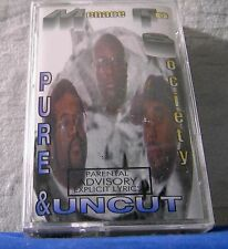 Menace To Society Pure & Uncut 15 track 1996 CASSETTE TAPE NEW! mts and (cracks)