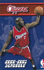 2000-01 LOS ANGELES CLIPPERS BASKETBALL POCKET SCHEDULE - LAMAR ODOM