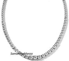 "20"" Graduated Signity Cubic Zirconia Cz Ladies Mens Line Tennis Necklace Jewelry"
