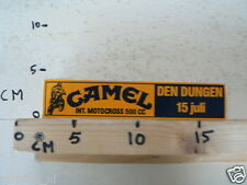 STICKER,DECAL DEN DUNGEN INT. MOTOCROSS 500 CC CAMEL 15 JULI MX CROSS