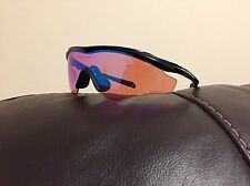 Oakley M2 XL Prizm Golf Lens Sunglasses Black Polished Asian Fit NEW