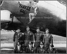 Photo: Nose Art: Yankee Gal: B-17 Bomber, 91st Bomb Group,  WWII, 1944