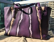 USED Bottega Veneta MONALISA Purple Washed Nappa Glimmer Tote MSRP $3700+tax