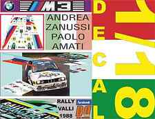 DECAL 1/18 BMW M3 ANDREA ZANUSSI RALLY VALLI 1988 (01)