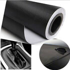 "DIY 20""x50"" 3D Black Carbon Fiber Vinyl Car Wrap Sheet Roll Film Sticker Decal"