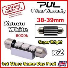 2PC 3 SMD LED 39mm 239 272 CANBUS NO ERROR XENON WHITE NUMBER PLATE LIGHT BULB