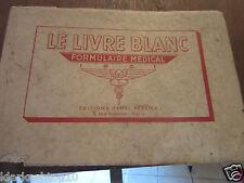 Le Livre Blanc, formulaire médical 1951/ éditions Henri Perrier
