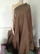 Light brown lining material fabric shiny thick good quality polyester new