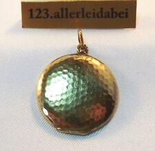 Kleines Medaillon 585 Gold Anhänger / AV 634