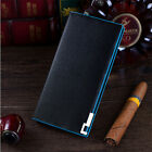 New Fashion Men's Leather Long Wallet Pockets ID Card Clutch Cente Bifold Purse