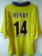 EXCELLENT!!! HENRY !!!! 2003-05 Arsenal Away Shirt Jersey Trikot XL