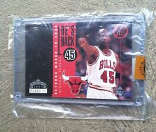 1995 UPPER DECK MICHAEL JORDAN 'HE'S BACK' COLLECTORS CARD #01483 OF 10000 * COA