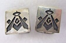 Vintage Fenwick & Sailors Masonic Sterling Silver Cufflinks Set