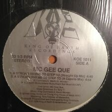 "Mc Gee Que-A Strong Rhyme To Step To-12"" Single-King of Earth-Vinyl Record-NM"
