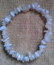 BLUE LACE AGATE & MOONSTONE CHIP BEAD HEALING CRYSTAL BRACELET