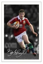BRIAN O'DRISCOLL RUGBY BRITISH LIONS SIGNED AUTOGRAPH PHOTO PRINT
