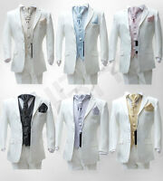 BOYS IVORY SUIT 5 PCS FORMAL PAGE BOYS  WEDDING CRAVAT SUITS AGE 6 M TO 15 YRS