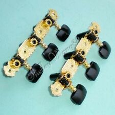 Classical Guitar Short Machine Heads Tuner Tuning Pegs Gold Finish /w Black Tip