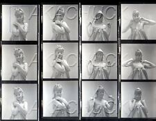 Cute Blonde Has Fun w Silly Poses HENDRICKSON Negatives Photo Contact Sheet D770