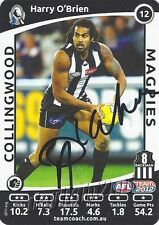 ✺Signed✺ 2012 COLLINGWOOD MAGPIES AFL Card HARRY O'BRIEN