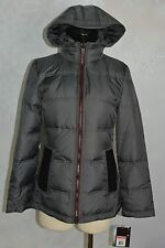 London Fog  Hooded Knit collar, water resistant down puffer  size XS  NWT