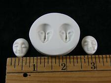Goddess Face Closed Eyes Polymer Clay Mold 2 in 1 (#MD1514)