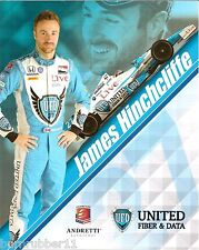 "2014 JAMES HINCHCLIFFE ""UNITED FIBER & DATA"" #27 IZOD INDY CAR SERIES POSTCARD"