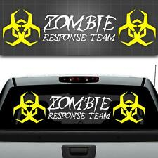 "Zombie Response Team Window Decal, Zombie Car Sticker, Truck Decal 48"" x 12"""