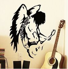 Angel guitar Engel Musik Gittarre Wandtattoo Wallpaper Wand Schmuck 58 cm x 67