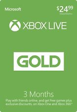 Microsoft 3-Month Xbox Live Gold Membership NEW