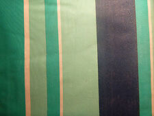 """Tablecloth 52"""" x 70"""" Oblong Blue Green White Stripe Casual Vinyl Table"""