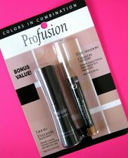 New PROFUSION Black Liquid Eyeliner + Eye Shadow Crayon Cappuccino FREE POST