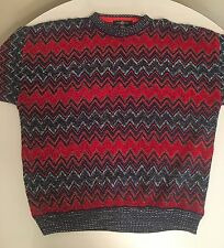 COLORFUL VINTAGE COTTON TRADERS BIGGIE COSBY STYLE SWEATER SIZE XL