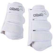 CATAGO Bottes de Dressage,4 Pièces blanc Sang total/Cob Dressage Guêtres Set
