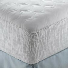 King Size 100% Cotton Top Mattress Pad Bed Protector Quilted Waterproof Cover