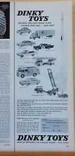 1962 magazine ad for Dinky Toys by Meccano - photo of 9 different cars & trucks