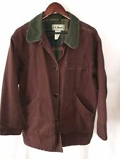 LL Bean Womens Field Barn Coat Jacket Plaid Flannel Lined Canvas Corduroy XL