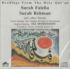 QARI SADAQAT ALI - SURAH FATEHA,RAHMAN & OTHER SURAH WITH ENGLISH TRANSLATION CD